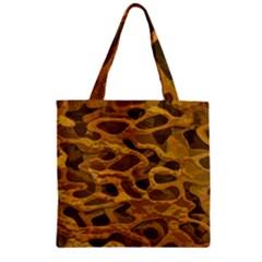 Camo Zipper Grocery Tote Bag