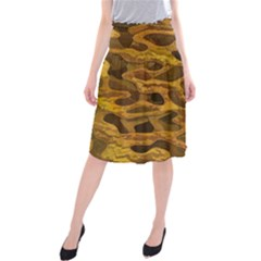Camo Midi Beach Skirt