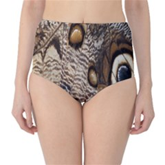 Butterfly Wing Detail High-Waist Bikini Bottoms