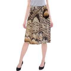 Butterfly Wing Detail Midi Beach Skirt