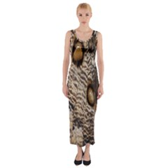 Butterfly Wing Detail Fitted Maxi Dress