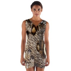 Butterfly Wing Detail Wrap Front Bodycon Dress
