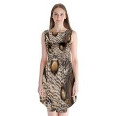 Butterfly Wing Detail Sleeveless Chiffon Dress