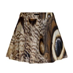Butterfly Wing Detail Mini Flare Skirt