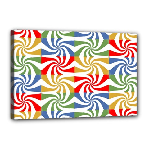 Candy Pattern  Canvas 18  x 12