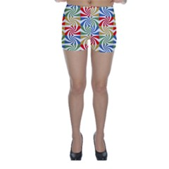 Candy Pattern  Skinny Shorts