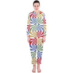 Candy Pattern  Hooded Jumpsuit (Ladies)