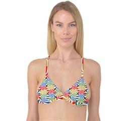 Candy Pattern  Reversible Tri Bikini Top