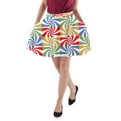 Candy Pattern  A-Line Pocket Skirt