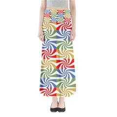 Candy Pattern  Maxi Skirts