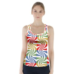 Candy Pattern  Racer Back Sports Top