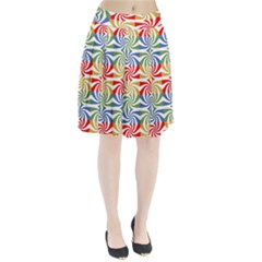 Candy Pattern  Pleated Skirt