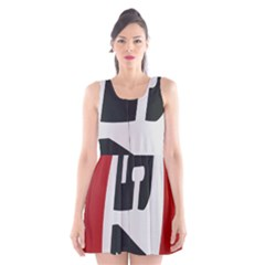 Car Auto Speed Vehicle Automobile Scoop Neck Skater Dress