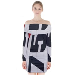 Car Auto Speed Vehicle Automobile Long Sleeve Off Shoulder Dress