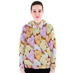 Candy Pattern Women s Zipper Hoodie