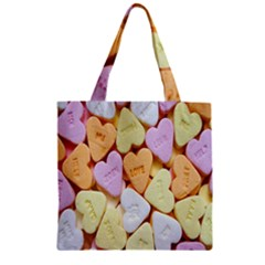 Candy Pattern Zipper Grocery Tote Bag