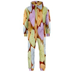 Candy Pattern Hooded Jumpsuit (Men)