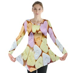 Candy Pattern Long Sleeve Tunic