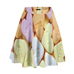 Candy Pattern High Waist Skirt