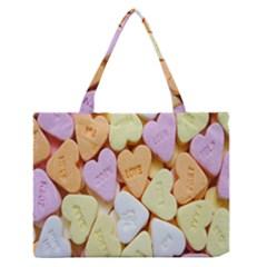 Candy Pattern Medium Zipper Tote Bag