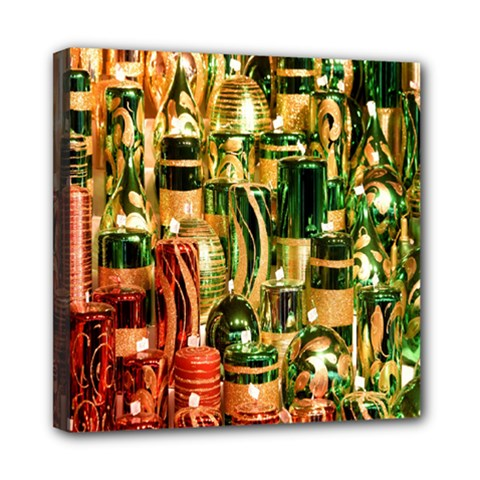 Candles Christmas Market Colors Mini Canvas 8  x 8