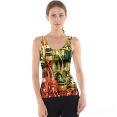 Candles Christmas Market Colors Tank Top