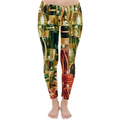 Candles Christmas Market Colors Classic Winter Leggings