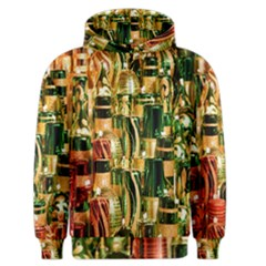 Candles Christmas Market Colors Men s Zipper Hoodie