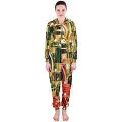 Candles Christmas Market Colors Hooded Jumpsuit (ladies)