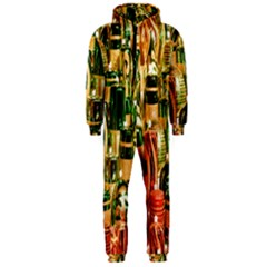 Candles Christmas Market Colors Hooded Jumpsuit (Men)