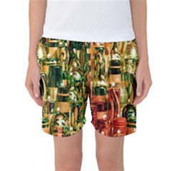 Candles Christmas Market Colors Women s Basketball Shorts