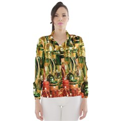 Candles Christmas Market Colors Wind Breaker (Women)