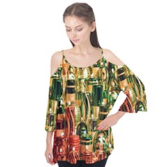 Candles Christmas Market Colors Flutter Tees