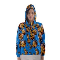 Cartoon Ladybug Hooded Wind Breaker (women)