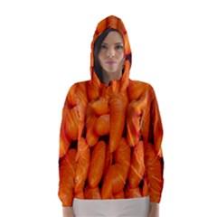 Carrots Vegetables Market Hooded Wind Breaker (women)