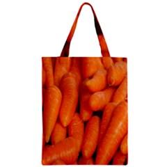 Carrots Vegetables Market Zipper Classic Tote Bag