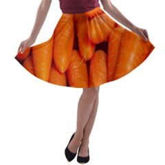 Carrots Vegetables Market A Line Skater Skirt