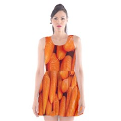 Carrots Vegetables Market Scoop Neck Skater Dress