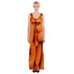 Carrots Vegetables Market Maxi Thigh Split Dress
