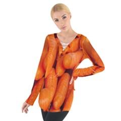 Carrots Vegetables Market Women s Tie Up Tee