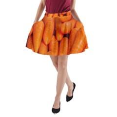 Carrots Vegetables Market A-Line Pocket Skirt