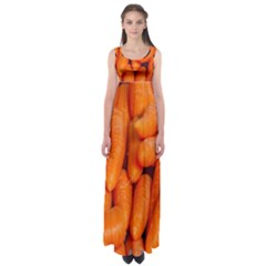 Carrots Vegetables Market Empire Waist Maxi Dress
