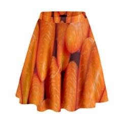 Carrots Vegetables Market High Waist Skirt