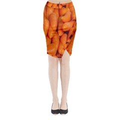 Carrots Vegetables Market Midi Wrap Pencil Skirt