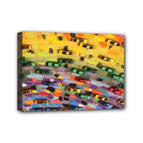 Car Painting Modern Art Mini Canvas 7  x 5