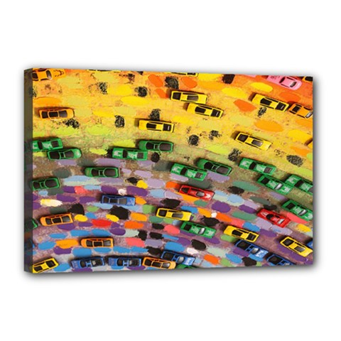 Car Painting Modern Art Canvas 18  x 12