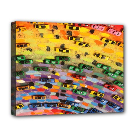 Car Painting Modern Art Deluxe Canvas 20  x 16