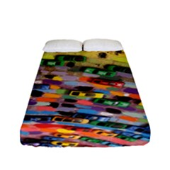 Car Painting Modern Art Fitted Sheet (full/ Double Size)
