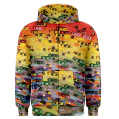 Car Painting Modern Art Men s Zipper Hoodie