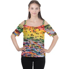 Car Painting Modern Art Women s Cutout Shoulder Tee